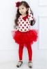 Fetița cu fundițe roșii